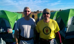 Author and Eric Sherman a couple of minutes before the start of 2012 Across the Years